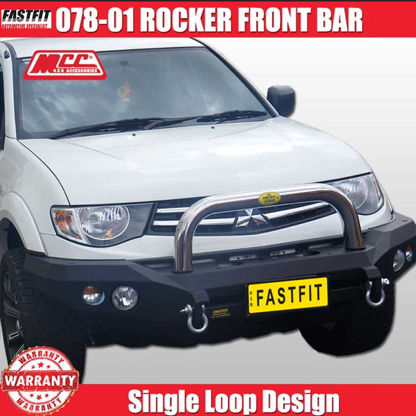 MCC 078-01 Stainless Steel Single Loop Rocker  BullBar to suit Mitsubishi Triton ML-MN 07/2006-08/2015