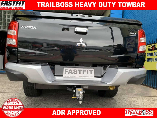 Trailboss Heavy Duty Towbar to suit Mitsubishi TRITON MQ (factory step) 5/15-ON