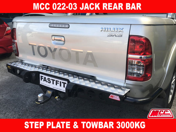 MCC 022-03 Jack Rear Bar with Step Plate to suit Toyota Hilux 07/2011-09/2015
