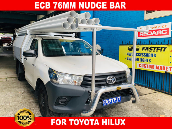 ECB 76MM Nudge Bar to suit TOYOTA HILUX 2WD/4WD 07/15-ON