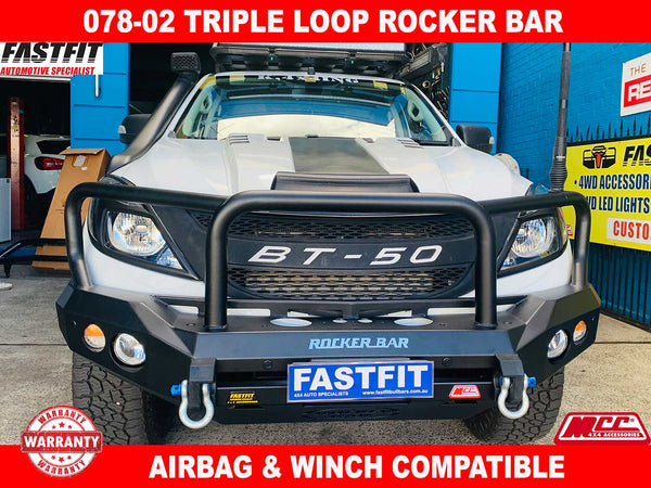 MCC 078-02 Triple Loop Rocker Bull Bar to suit Mazda BT50 10/2011-ON