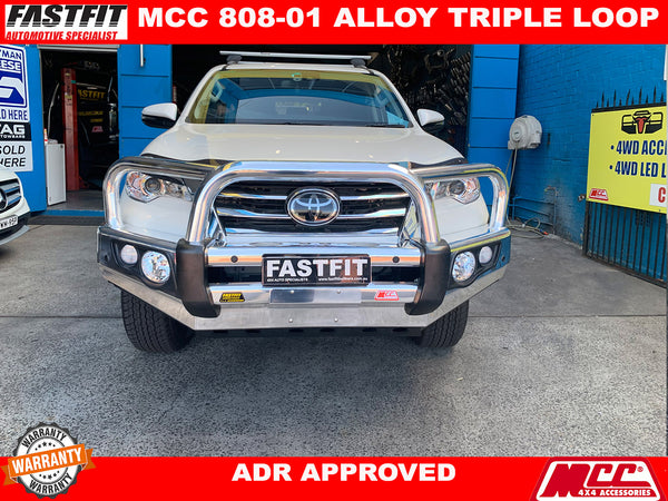 MCC 707-01 ALW  FALCON TRIPLE LOOP ALLOY BULLBAR TO SUIT TOYOTA FORTUNER 10/2015-ON