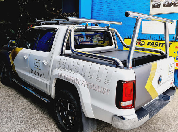 FastFit Polished Aluminum Rear Rack to suit VOLKSWAGON AMAROK 2015-ON