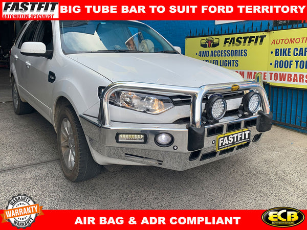 ECB BIG TUBE BAR with Fog Light & parking sensor to suit FORD TERRITORY 2014 0N