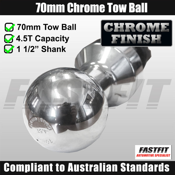FastFit Heavy Duty 70mm Chrome Finish Tow Ball