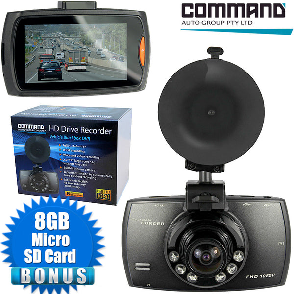 Command 1920 x 1080 Full HD Drive Recorder Vehicle Blackbox DVR Camera