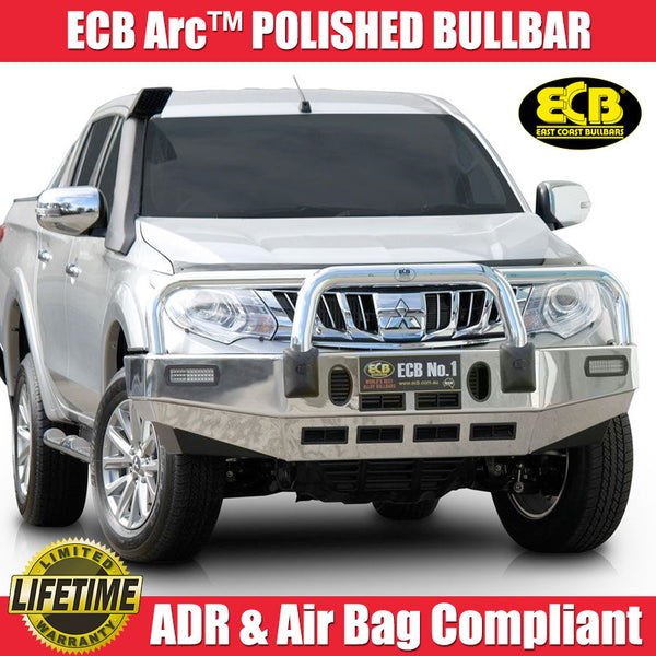 ECB Arc™ Polished Bull Bar To Suit Mitsubishi Triton MQ GLX -  01/2015 ON