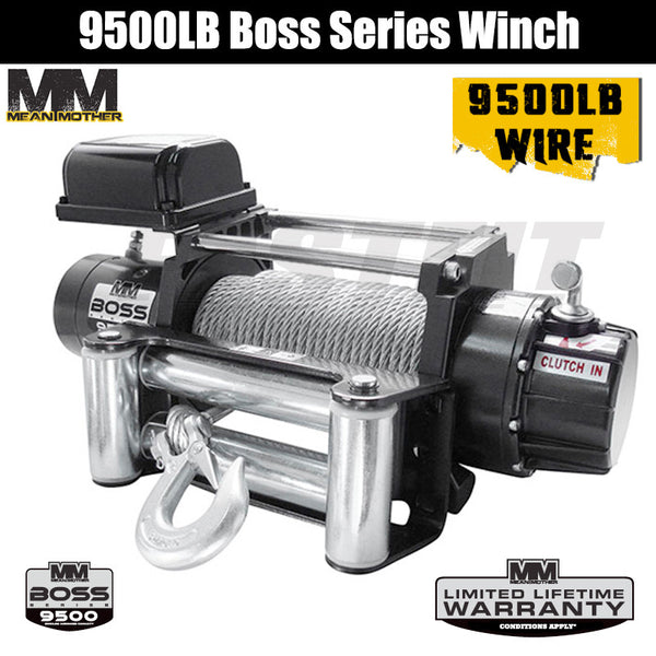Mean Mother 9500LB Boss Series Winch - Wire