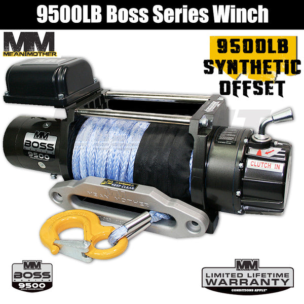 Mean Mother 9500LB Boss Series Winch - Synthetic Offset