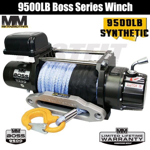 Mean Mother 9500LB Boss Series Winch - Synthetic Rope