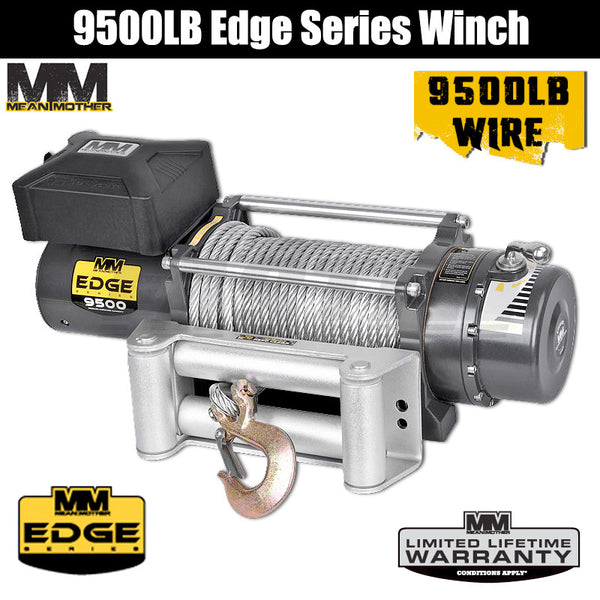 Mean Mother 9500LB Edge Series Winch - Wire