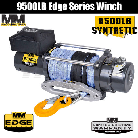 Mean Mother 9500LB Edge Series Winch - Synthetic Rope