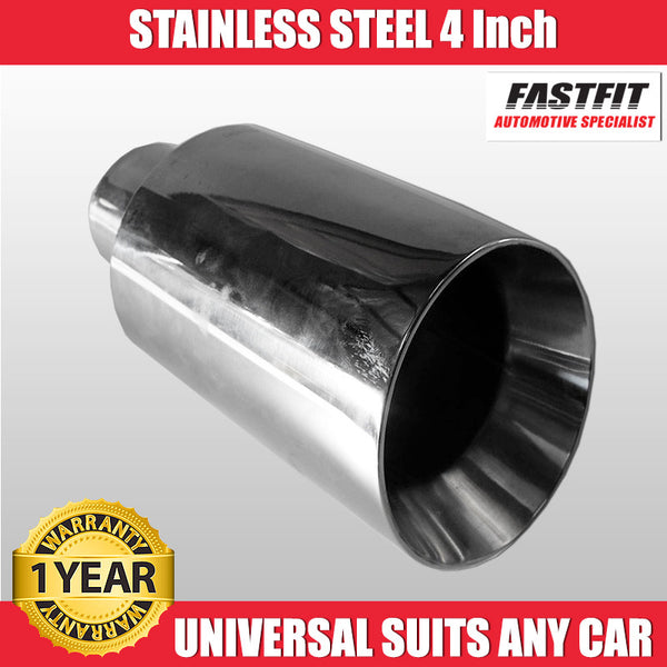 "FastFit 304 4"" Stainless Steel Exaust Tip"