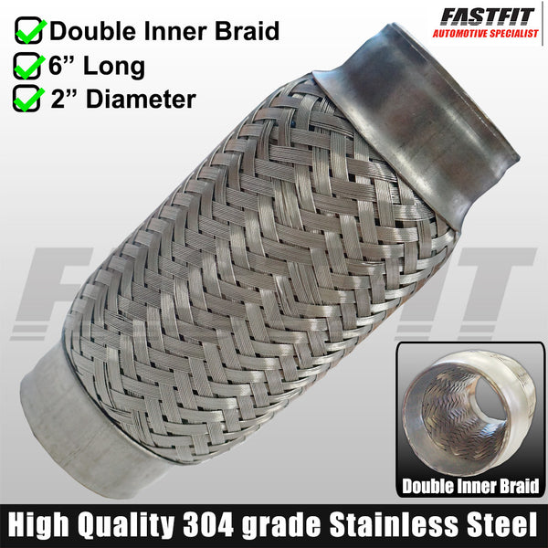 "Fastfit Stainless Steel Flexi Bellow - 2"" x 6"""