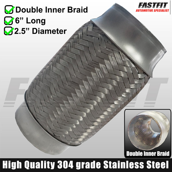 "Fastfit Stainless Steel Flexi Bellow - 2.5"" x 6"""