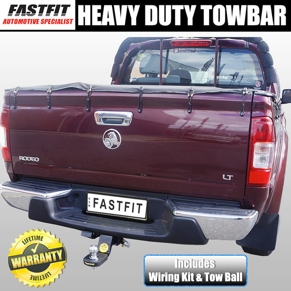 Fastfit Heavy Duty Tow Bar To Suit Holden Rodeo RA Tub Body With Bumper 03/2003 - 05/2012