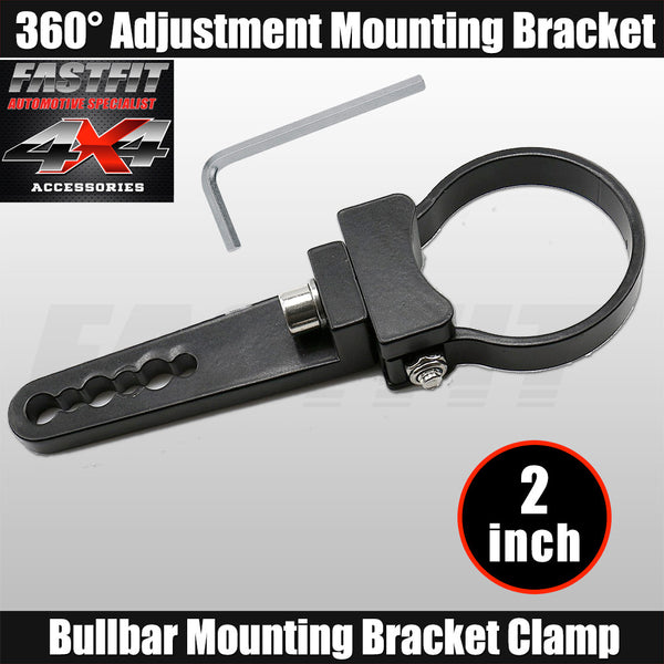 Fastfit Bullbar Nudge Bar Mounting Bracket Clamp For LED Light Bar Mount - 2