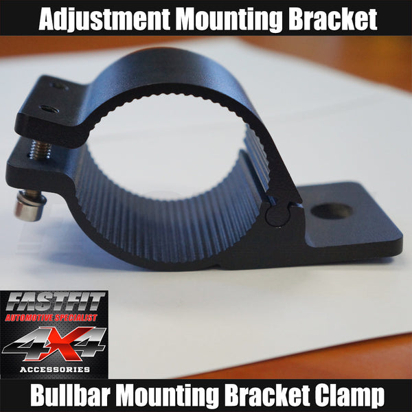 Fastfit Bullbar Nudge Bar Mounting Bracket Clamp For LED Light Bar Antenna Pair- 2