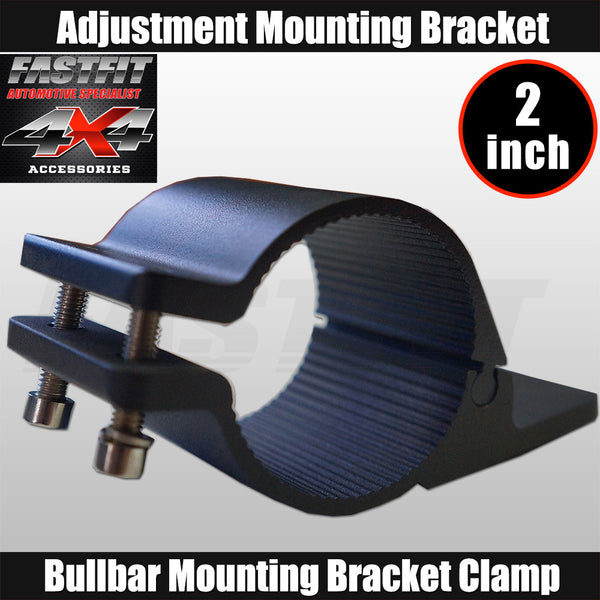 Fastfit Bullbar Nudge Bar Mounting Bracket Clamp For LED Light Bar Antenna - 2