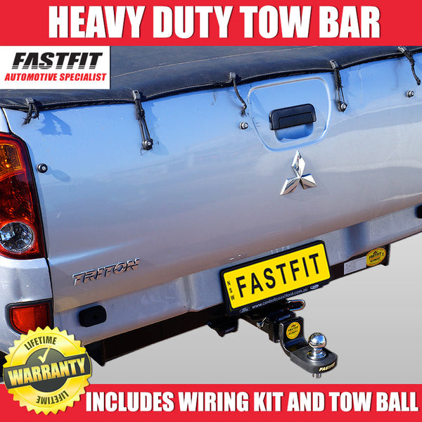 FastFit Heavy Duty Hitch Tow Bar To Suit Mitsubishi Triton MN Ute Cab Chassis With No Step - 07/2006 ON