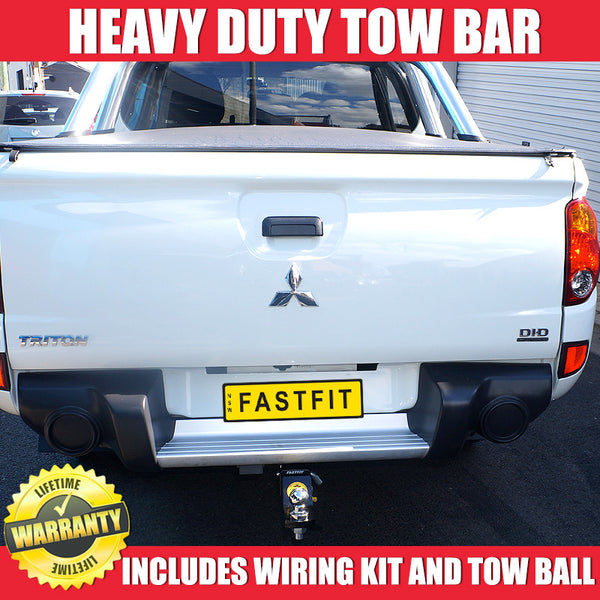 FastFit Heavy Duty Tow Bar To Suit Mitsubishi Triton With Step - 07/2006 ON