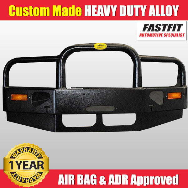 FastFit Black Powder Coated Alloy Bumper Replacement Bull Bar To Suit Mitsubishi Delica Series 1
