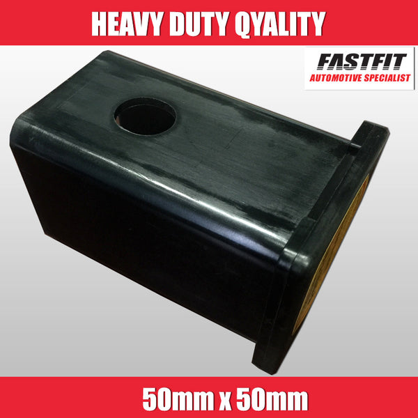 FastFit Heavy Duty 50mm x 50mm Blank Towbar Hitch Cover