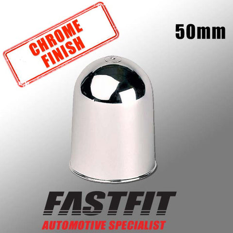 FastFit 50mm Chrome Finish Tow Bar Cover