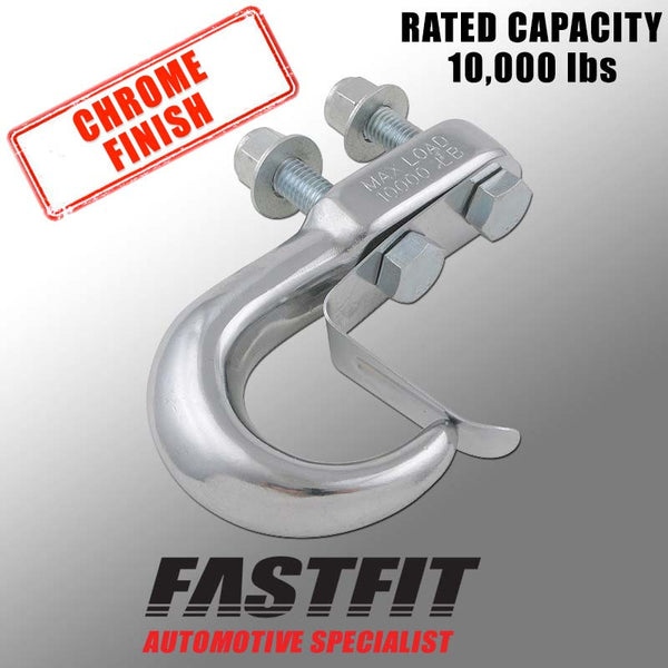 FastFit 10,000 lbs Capacity Chrome Finish Tow Hook Kit