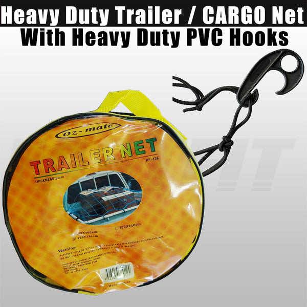 Oz-mate Heavy Duty Trailer / Cargo Net - 5mm Thickness 120x180cm