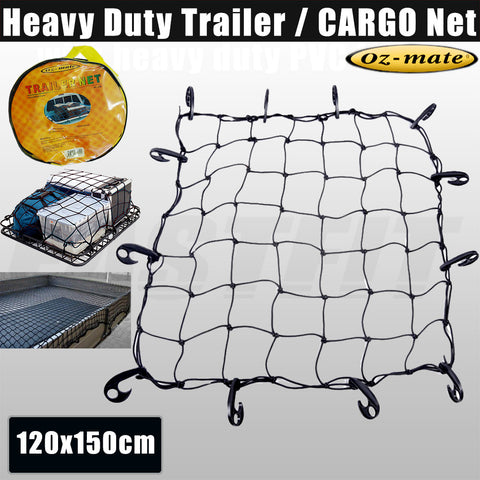 Oz-mate Heavy Duty Trailer / Cargo Net - 5mm Thickness 120x150cm
