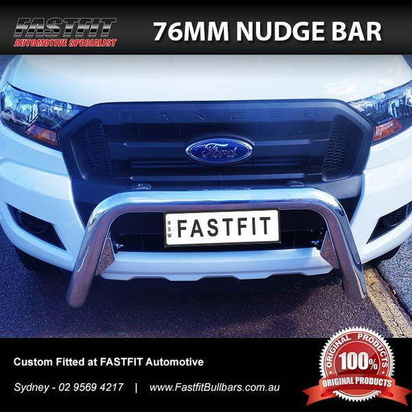 ECB 76MM Nudge Bar to suit FORD RANGER PX MKII 07/2015-08/2018 (Wildtrak Models)