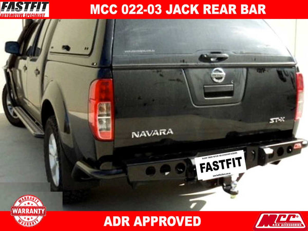 MCC 022-03 Jack Rear Bar to suit Nissan Navara D40 09/2005-02/2015