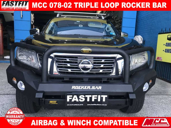 MCC 078-02 Triple Loop Rocker BullBar to suit Nissan Navara NP300 06/2015-ON