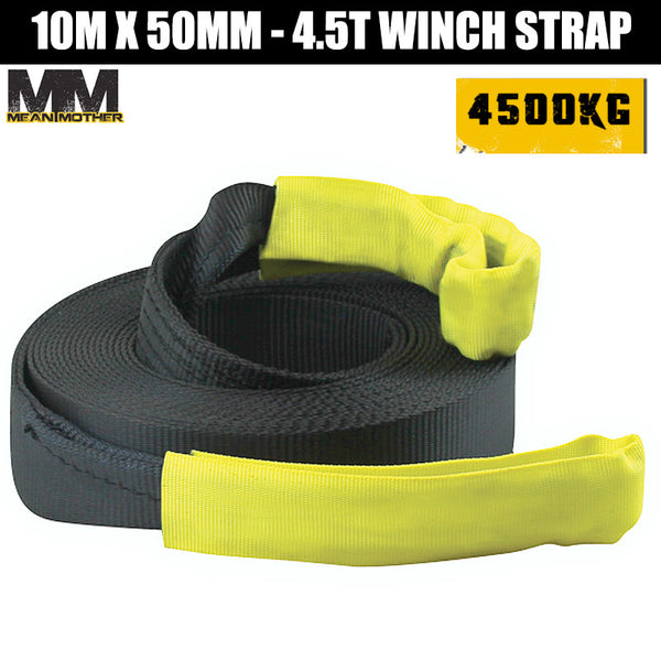 Mean Mother 10M x 50mm - 4.5T Winch Strap