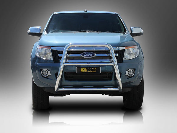 ECB 63mm Series 2 Polished Alloy Nudge Bar To Suit Ford Ranger PX - 10/2011 ON