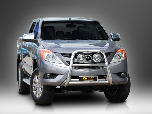 ECB 63mm Polished Alloy Nudge Bar To Suit Mazda BT50 4wd + 2wd High Rise - 10/2011 ON