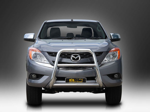 ECB 63mm Polished Alloy Nudge Bar to suit Mazda BT50 4wd+2wd High Rise 10/2011-ON
