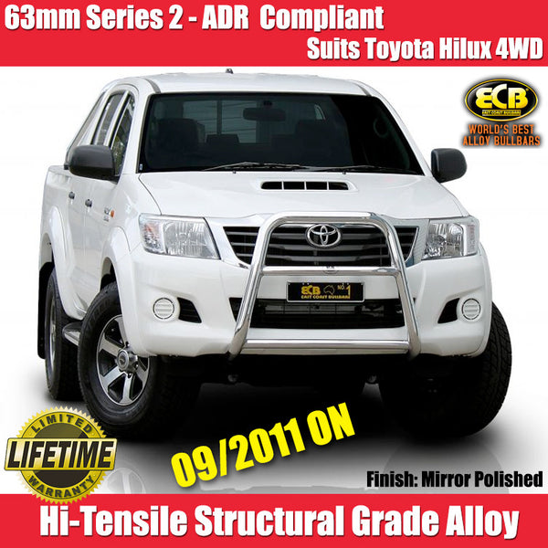 ECB 63mm Series 2 Nudge Bar to Suit Totoya Hilux  All 4WD Models - 09/2011 ON