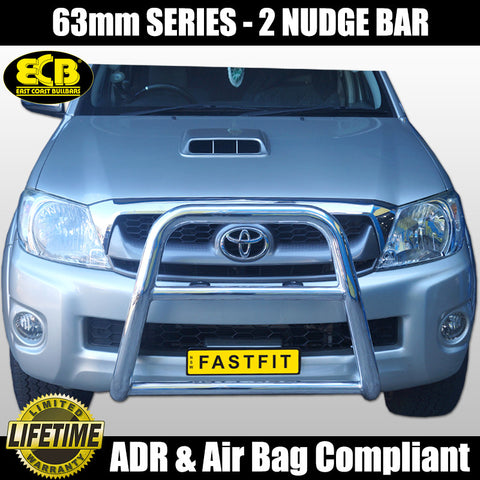 ECB 63mm Series 2 Nudge Bar to Suit Totoya Hilux 4WD SR & Workmate Models - 03/2005 - 07/2011