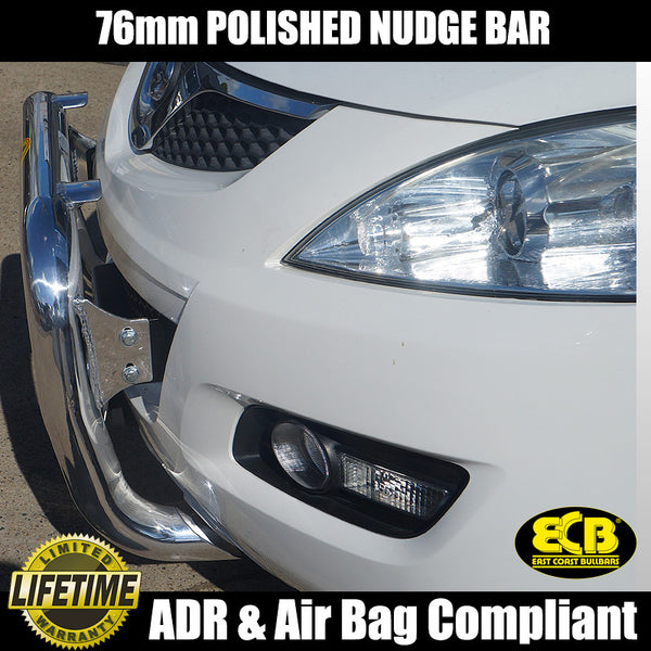 ECB 76mm Polished Alloy Nudge Bar to suit Great Wall X200 2012-ON