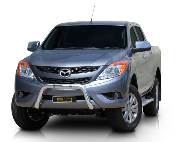 ECB 76mm Polished Alloy Nudge Bar To Suit Mazda BT50 - 10/2011 ON