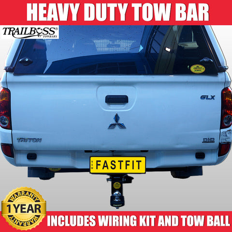 TrailBoss Heavy Duty Tow Bar To Suit Mitsubishi 4DR Dual Cab Triton MN With No Step - 10/2009 ON