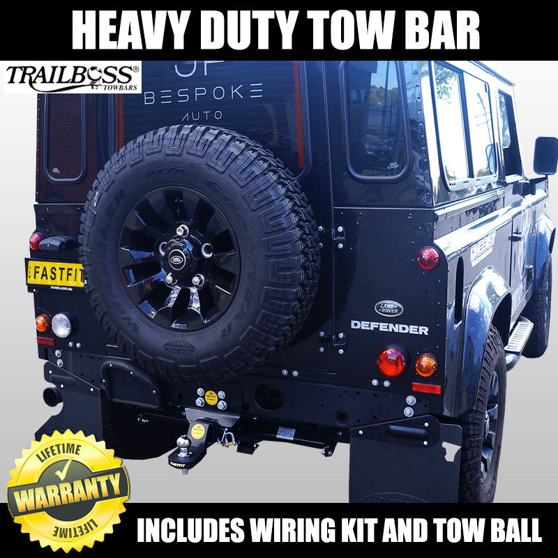 trailboss heavy duty towbar to suit land rover defender 90. Black Bedroom Furniture Sets. Home Design Ideas