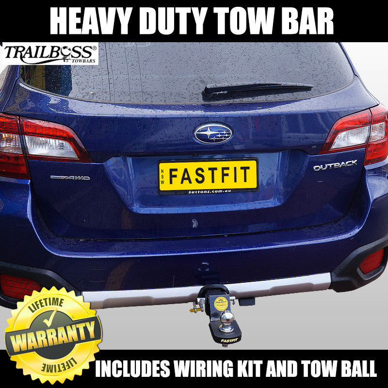 trailboss heavy duty towbar to suit subaru outback 5th generation wagon -  12/2014 on