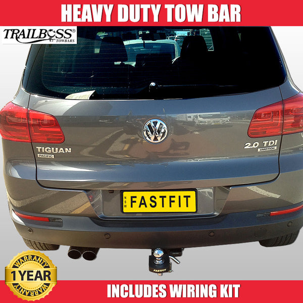TrailBoss Heavy Duty Tow Bar To Suit VolksWagen Tiguan SUV - 08/2008-5/2016