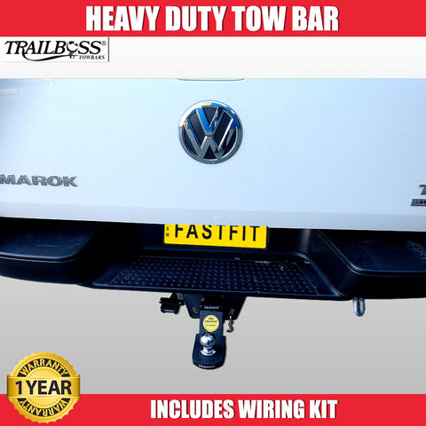 TrailBoss Heavy Duty Tow Bar With Step To Suit Volkswagon Amarock - 06/2012 ON