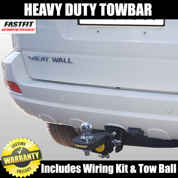 FastFit Heavy Duty Hitch Tow Bar To Suit Great Wall X240 09/2009 ON