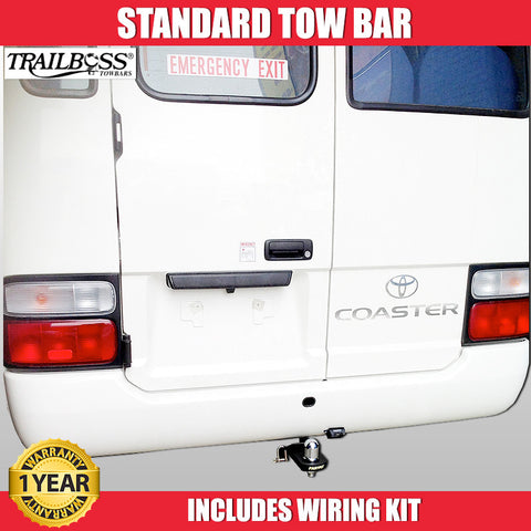 TrailBoss Standard Tow Bar To Suit Toyota Coaster Bus - 07/1993 To 09/2007