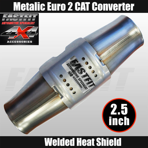 "Fastfit 2.5"" Universal Euro 2 Metallic Catalytic Converter"